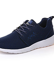 Women's Athletic Shoes Comfort PU Spring Fall Outdoor Lace-up Flat Heel Royal Blue Gray Dark Blue Black Under 1in