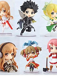 Anime Action Figures Inspired by Sword Art Online Cosplay PVC 6 CM Model Toys Doll Toy 1set