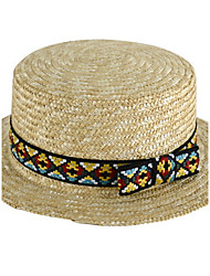 Geometric Summer Straw Hat Cap Folding Beach Outdoor Tourism Wide Brim Hawaii Folding Soft Sun Hat