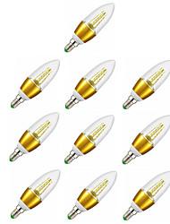 7W E14 LED svíčky C35 35 SMD 2835 600 lm Teplá bílá Ozdobné AC 220-240 V 10 ks