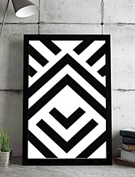 מופשט אמנות ממוסגרת תלת מימדית וול ארט,PVC חוֹמֶר שחור אין משטח עם מסגרת For קישוט הבית אמנות מסגרת