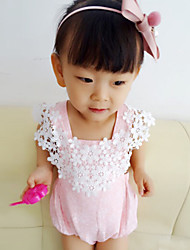 Baby Infants And Young Children Cotton Fashion Lace Bowknot Backless Sleeveless Clothing Jumpsuit Climb Clothes