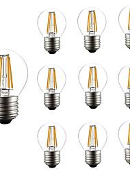 4W Lâmpadas de Filamento de LED G45 4 COB 300 lm Branco Quente Branco Frio AC 220-240 V 10 pçs
