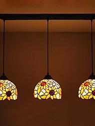 מנורות תלויות ,  טיפאני אחרים מאפיין for נגד השתקפות עמיד במים מתכת סלון חדר אוכל מסדרון 3 בצלים