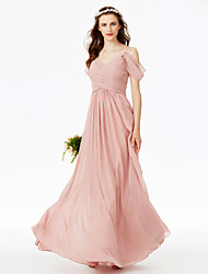 2017 LAN TING BRIDE Floor-length Spaghetti Straps Bridesmaid Dress - Open Back Sleeveless Chiffon