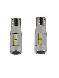 5w לבן כחול אדום צהוב צהוב dc12v t10 canbus 10led smd5630 הוביל עדשה לא טעות בדיקת מנורה קריאה אור 2pcs