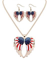 Women's Necklace/Earrings Jewelry Fashion Euramerican Alloy Jewelry 1 Necklace 1 Pair of Earrings For Wedding Party AnniversaryWedding