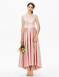 2017 LAN TING BRIDE Asymmetrical Bateau Bridesmaid Dress - Elegant Sleeveless Satin