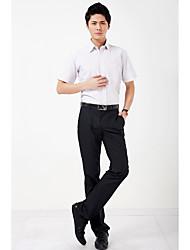 Masculino Camisa Social Festa Casual Trabalho Simples Todas as Estações Verão,Listrado Algodão Modal Poliéster Colarinho de CamisaManga