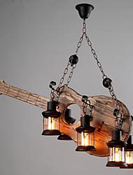מנורות תלויות ,  רטרו צביעה מאפיין for סגנון קטן עץ/במבוק סלון בבית מסדרון 6 נורות