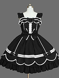 Women's Lolita Dress Cosplay Girl Dress Classic/Traditional Lolita Elegant Princess Cosplay Lolita Dress Fashion Long Sleeve Short / MiniTuxedo