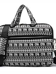 13.3 14.1 Bolsa de ombro de laptop de elefante de animal bonito de 15,6 polegadas com bolsa de mão de cinta para superfície / dell / hp /