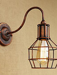 Art de fer long bras nostalgique et rétro style créatif rouille couleur étude salon salle de la lampe murale américaine