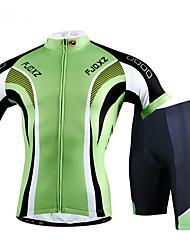 Camisa com Shorts para Ciclismo Homens Manga Curta Moto Conjuntos de Roupas Design Anatômico Respirável Redutor de Suor Confortável