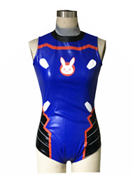 Inspired by Overwatch D.Va Video Game Cosplay Costumes Cosplay Suits Swimwear N/A Sleeveless Leotard