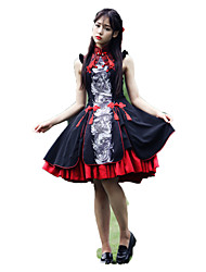 Outfits Wa Lolita Vintage Inspired Cosplay Lolita Dress Vintage Sleeveless Short / Mini For