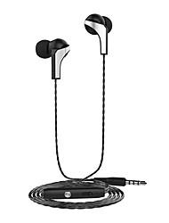 Auriculares del langsdom r29 auriculares del metal 3.5mm auriculares estéreos y millet del htc del iphone ajustar volumen del micrófono