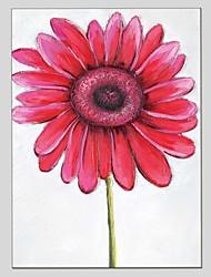 Pintados à mão Floral/Botânico Panorâmico Vertical,Moderno Clássico 1 Painel Tela Pintura a Óleo For Decoração para casa