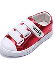 בנים נעלי ספורט נוחות Paillette סתיו חורף אתלטי קזו'אל נוחות סקוטש עקב שטוח כסף צהוב אדום שטוח