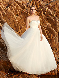 2017 LAN TING BRIDE Princess Wedding Dress - Simply Sublime Open Back Floor Length Strapless Tulle withBeading Crystal
