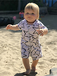 Baby' Fashion And Comfortable Lovely Short Sleeve Lovely Pentagram Conjoined Crawling Clothes