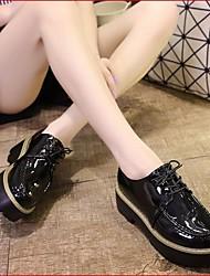 נשים נעלי ספורט נוחות עור אמיתי אביב סתיו קזו'אל נוחות שחור אדום ס