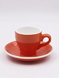 Conjunto de copos de café de cappuccino de cerâmica de cor européia