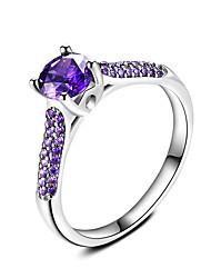 Dámské Prsten Safír Retro Elegantní Round Shape Šperky Pro Svatební Párty a večerní akce Zásnuby Denní Obřad