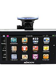 Kkmoon 7 נייד HD מסך gps navigator 128mb ram 4gb rom mp3 fm וידאו לשחק מכונית בידור מערכת עם תמיכה חזרה מפה בחינם