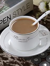 Copo de ceramica europeu de latte copo matte matte 300ml