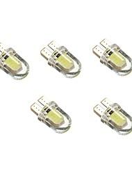 1w dc12v לבן t10 2cob מנורה דקורטיבית קריאה אור לוחית רישוי אור מנורת דלת 5pcs