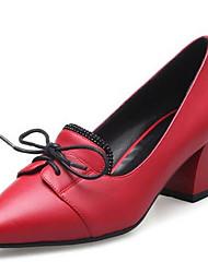 נשים נעלי אוקספורד נוחות PU אביב קזו'אל נוחות שחור אפור אדום ס