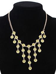 בגדי ריקוד נשים בנות שרשראות הצהרה ריינסטון תכשיטים אבן נוצצת סגסוגתעיצוב בייסיק עיצוב מיוחד אקרילי חברות סגנון חמוד Euramerican ארה
