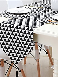 Nordic Simple Geometric Cotton And Linen Table Flag
