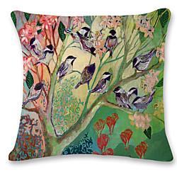 Cushion Cover 1PC Linen Soft Decorative Square Throw Pillow Cover Cushion Case Pillowcase for Sofa B