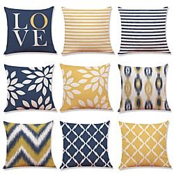 Image of set di 9 pezzi copricuscino geometrico premium nuova serie soggiorno rustico famibay federa cuscino decorativo, casa divano federe decorative cuscino esterno per divano divano letto sedia Lightinthebox