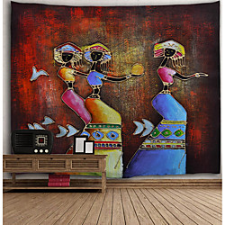 Oil Painting Style Wall Tapestry Art Decor Blanket Curtain Hanging Home Bedroom Living Room Decorati