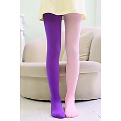 1 Paar Kinder Mädchen Süß Solide Stilvoll Polyester Socken  Strümpfe Blau / Purpur / Gelb Einheitsgröße Lightinthebox