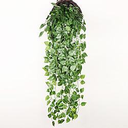 1pc Simulation gefälschte Blume Rattan Decke grüne Rebe Technik Dekoration Rattan Oberschrank Decke Esszimmer Wohnzimmer Dekoration Blume grüne Pflanze 95cm Lightinthebox