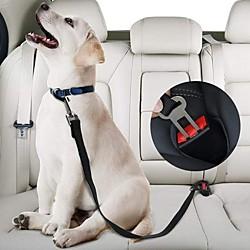 2 Stück Haustier Auto Sicherheitsgurt Nylon Haustiere Hund Katzensitz Blei Leine Gurt für Welpen Kätzchen Fahrzeug Sicherheitsleine verstellbar Lightinthebox