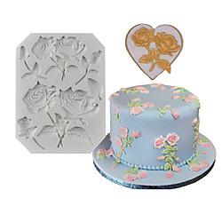 1 Stück Rose Fondant Silikon Kuchen Dekoration Form DIY Lightinthebox