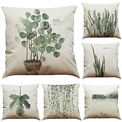 Image of 1 set di 6 pezzi fodera per cuscino serie botanica decorativo federa per cuscino casa divano cuscino decorativo per esterno/interno per divano divano letto poltrona Lightinthebox
