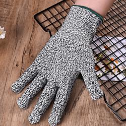 1 Paar Handschuhe schneiden widerstandsfähig Hochleistungsstufe 5 Schutz Küchenwerkzeug Angeln Jagdhandschuhe Stahl Drahtgitter Handschuhe Angelwerkzeuge Lightinthebox