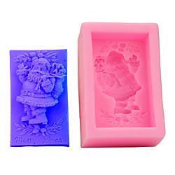 1 Stück 3d Kuchenform Rechteck Santa Silikonform Lightinthebox