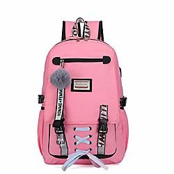 Image of Zaino per la scuola Zaino per escursioni zaino Massima capacità zaino Verde chiaro Rosa Nero Giallo Lightinthebox