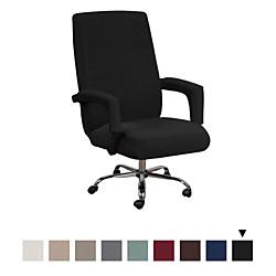 Image of copertura per sedia da ufficio per computer sedia da gioco fodera per sedia elasticizzata tinta unita protezione per mobili resistente e lavabile Lightinthebox
