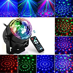 Projection lamp night light Led Disco Light Music Sound Activated Stage Lights Mini Rotating Laser P