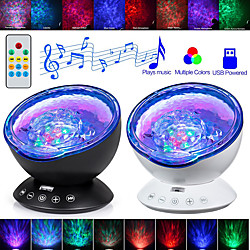 LITBest AS124E3 Coquimbo Ocean Wave Projector LED Night Light Built In Music Player Remote Control 7