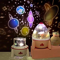 Sleeping Light Led Projector Rocket  Projector Starry Sky Space Nightlight Night Light Lamp Bedroom