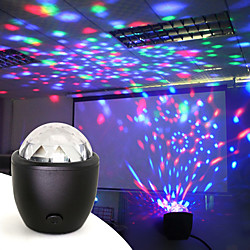 Disco Ball Party Stage Projector Lights Mini Led Voice Activated USB Crystal Magic Ball Flash DJ Lig